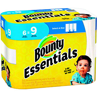 Bounty Basic Select-A-Size White Paper Towels,6 ct