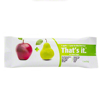 That's it. Apple + Pear Fruit Bar,1.2 OZ