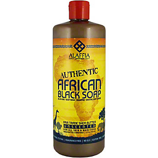Alaffia African Black Soap Unscented, 32 oz
