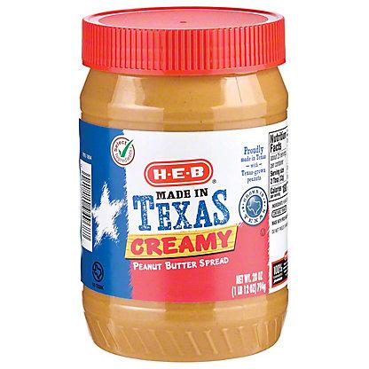 H-E-B Creamy Texas Peanut Butter, 28 oz