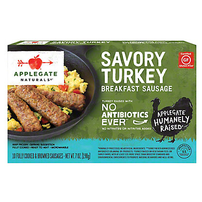 Applegate Naturals Savory Turkey Breakfast Sausage, 7 oz
