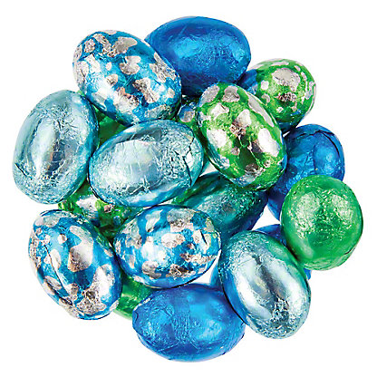 Bulk Solid Dark Chocolate Foiled Eggs, Sold by the pound