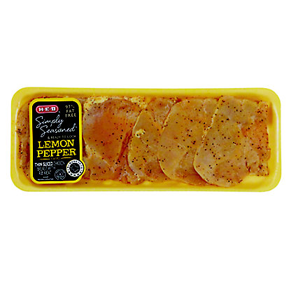 H-E-B Simply Seasoned Thin Sliced Lemon Pepper Chicken Breast,sold by the pound