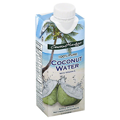 Central Market 100% Pure Young Coconut Water,11.1 OZ
