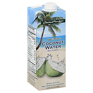 Central Market 100% Pure Young Coconut Water With Vitamin C, 33.8 oz