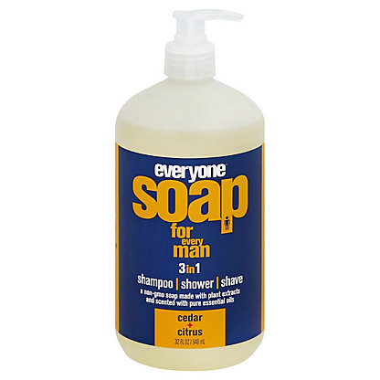 EO Everyone Botanical For Men 3-in-1 Cedar & Citrus Soap,32 OZ