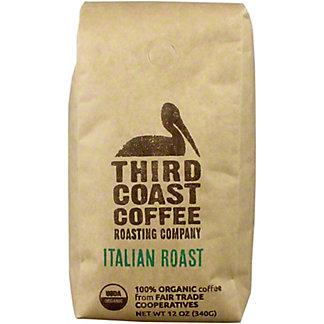 Third Coast Coffee Italian Roast Fair Trade Organic Coffee, 12 oz