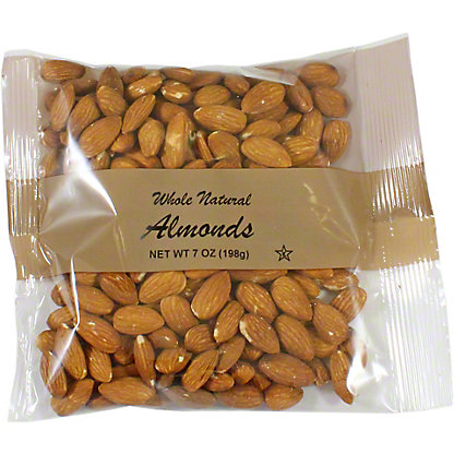 Central Market Natural Whole Almonds, 7 oz
