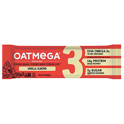Oatmega Vanilla Almond Crisp Protein Bar,1.8 oz