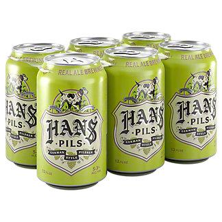 Real Ale Hans' Pils 6 PK Cans,12 OZ