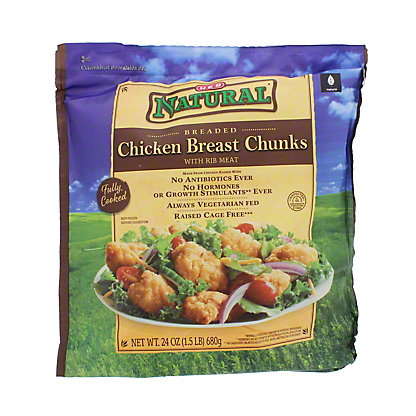 H-E-B Fully Cooked Natural Breaded Chicken Breast Chunks,24 OZ