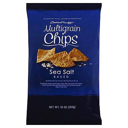 Central Market Sea Salt Multigrain Baked Chips,10 OZ