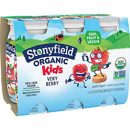 Stonyfield Organic YoKids Yogurt Smoothie, Very Berry,6.00 ea