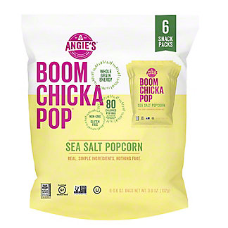 BOOMCHICKAPOP Sea Salt Popcorn Snack Packs, 6 ct