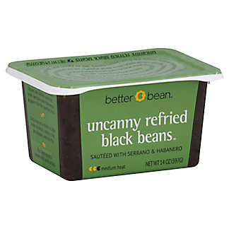 Better Bean Uncanny Refried Black Beans,14 oz