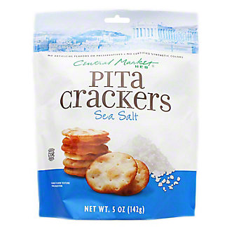 Central Market Sea Salt Pita Crackers, 5 oz