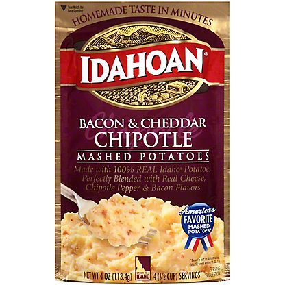 Idahoan Bacon and Cheddar Chipotle Flavored Mashed Potatoes, 4 oz