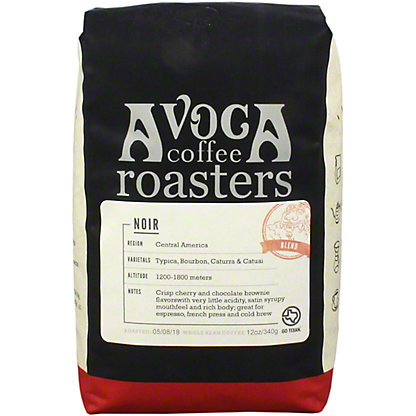 Avoca Noir Dark Roast Blend, 12 oz