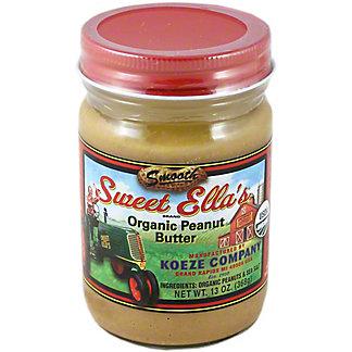 Sweet Ella 100% Organic Smooth Peanut Butter,13OZ