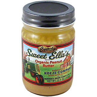 Sweet Ella 100% Organic Crunchy Peanut Butter, 12.5OZ