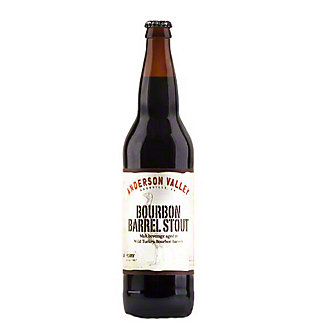 Anderson Valley Wild Turkey Bourbon Barrel Stout Bottle, 22 oz