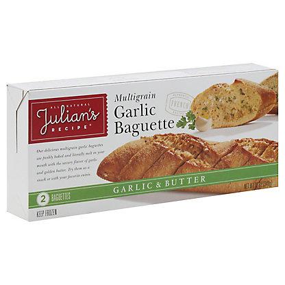 Julians Recipe Julians Multigrain Garlic Baguette,12OZ