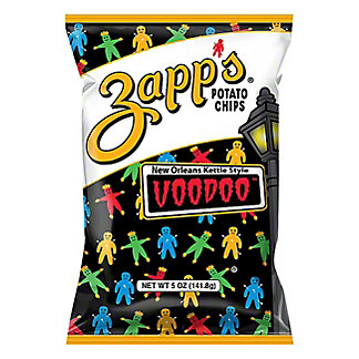 Zapp's Voodoo New Orleans Kettle Style Potato Chips,5.00 oz
