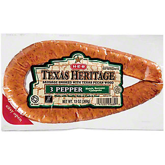 H-E-B Texas Heritage Pecan Smoked 3 Pepper Sausage,13 oz