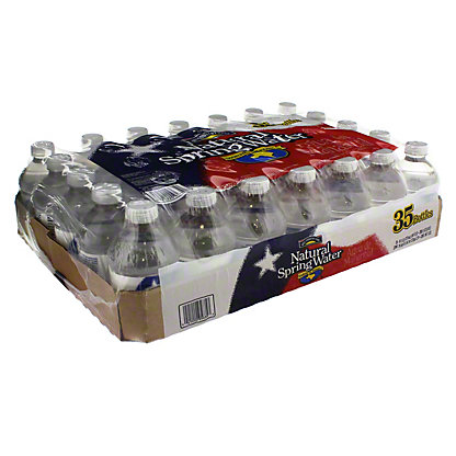 Hill Country Fare Natural Spring Water 35 PK, 8 oz