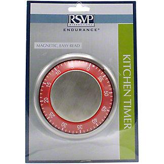 RSVP International Easy Read Kitchen Timer Red, ea