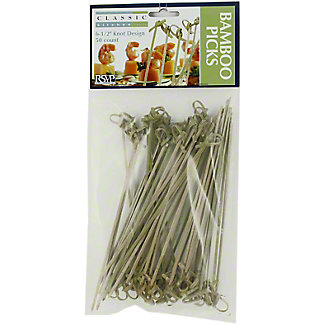 RSVP Bamboo Appetizer Knot Picks 6.5 In, EACH
