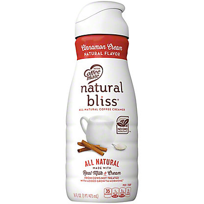 Nestle Coffee-Mate Natural Bliss Cinnamon Cream Coffee Creamer,16 OZ
