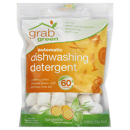 Grab Green Tangerine Lemongrass Auto Dishwashing Detergent 60,2.4LB