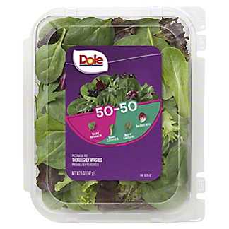 Dole 50/50 Spring Mix And Baby Spinach Blend Clamshell,5 OZ