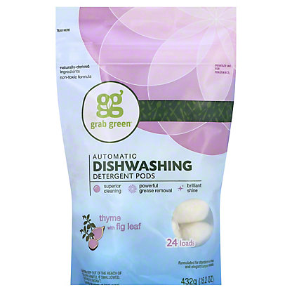 Grab Green Thyme Fig Leaf Dishwashing Detergent 24 Load,15.2OZ