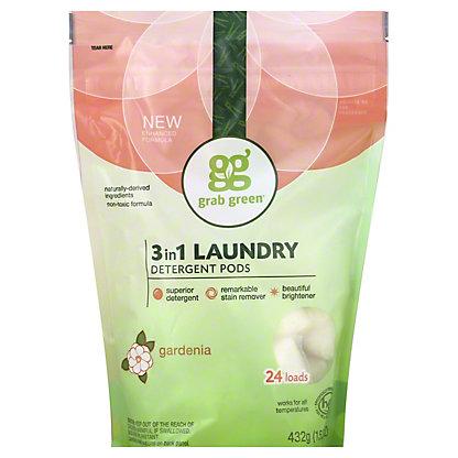 Grab Green Gardenia 3 In 1 Laundry Detergent 24 Load,15.20 oz