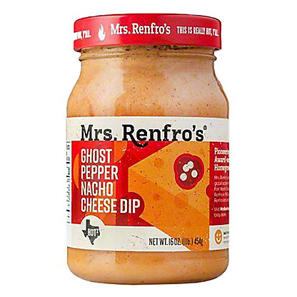 Mrs. Renfro's Scary Hot Ghost Pepper Nacho Cheese Sauce,16 OZ