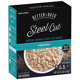 Better Oats Steel Cut Original with Flax, 10 ct
