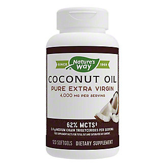 Nature's Way Coconut Oil Soft Gels, 120 CT