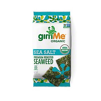 Gimme Organic Sea Salt Roasted Seaweed Snack, 0.17 oz