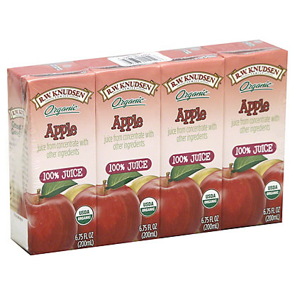 RW Knudsen Organic Apple Juice,4 - 6.75 fl oz boxes