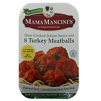 Mama Mancinis Turkey Meatballs In Italian Sauce,22.00 oz