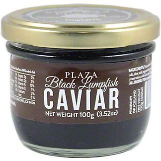 Plaza Caviar Black Lumpfish,3.52 oz