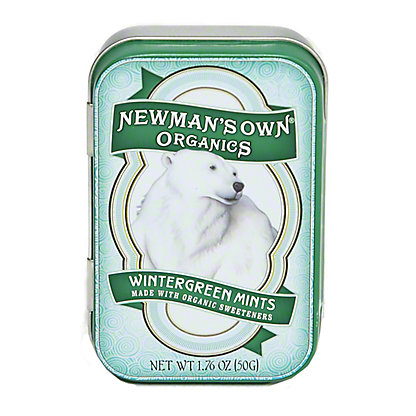 Newmans Own Organics Wintergreen Mint Tin,1.76OZ