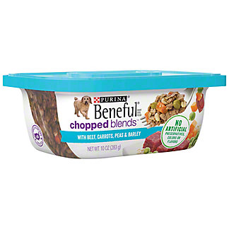 Purina Beneful Chopped Blends With Beef Carrots Peas And Barley,10 OZ