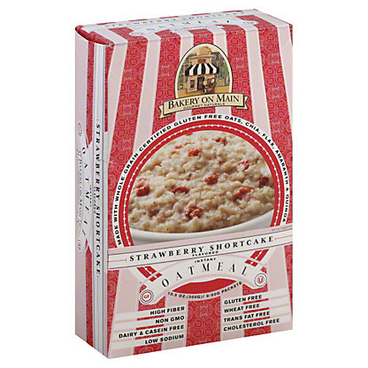 Bakery On Main Gourmet Naturals Strawberry Shortcake Flavored Instant Oatmeal, 10.56 OZ