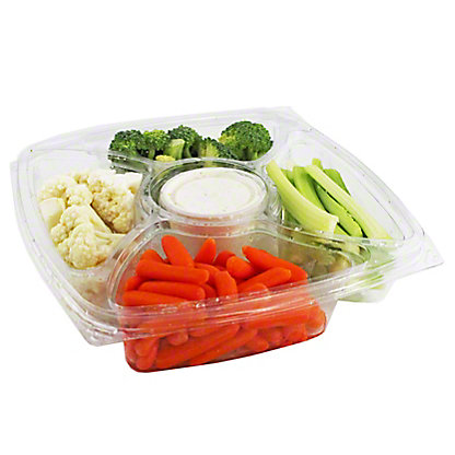 Central Market Vegetable Tray With Ranch, EACH
