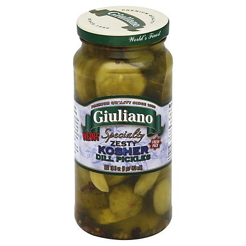 Giuliano Zesty Kosher Dill Pickles, 16 OZ