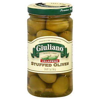 Giuliano Olives Jalapeno Stuffed,7 OZ