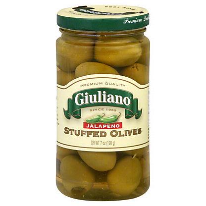 Giuliano Olives Jalapeno Stuffed,7 OZ